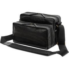 Artisan & Artist GCAM-1000 Classic Series Shoulder Bag - Black Leather