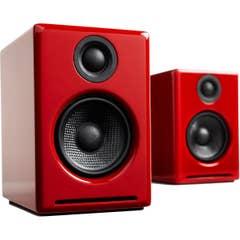 Audioengine A2+ Wireless Desktop Speakers - Gloss Red