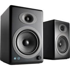 Audioengine A5+ Wireless Powered Bookshelf Speakers - Black Satin