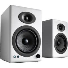Audioengine A5+ Wireless Powered Bookshelf Speakers - Hi-Gloss White