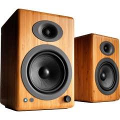 Audioengine A5+ Wireless Powered Bookshelf Speakers - Solid Bamboo