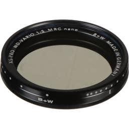 B + W XS-Pro 62mm ND Vario Filter