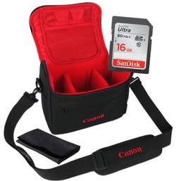 Canon Bag DSLR Starter Kit w/ SD Card and Lens Cloth