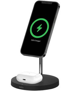 Belkin Boost Charge Pro 15W 2 in 1 Wireless Charger Stand with MagSafe Black