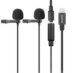 BOYA BY-M2D Digital Dual Omnidirectional Lavalier Microphones with Detachable Lightning Cable
