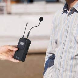 BOYA BY-UM2 3.5mm Locking-type Mini Gooseneck Omnidirectional Flexible Audio Microphone
