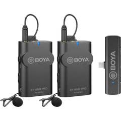 BOYA BY-WM4 PRO-K6 Two-Person Digital Wireless Omni Lavalier Microphone System for USB-C Devices