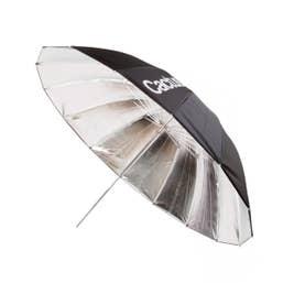 Cactus Fiberglass 40 Black/Silver Reflector Umbrella F-402