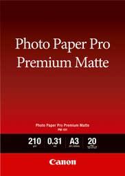 Canon PM-101 A3 Pro Premium Photo Paper (20 Sheets) Matte, Smooth texture