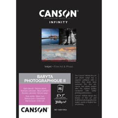Canson Baryta Photographique II 310gsm 5x7 x 25 Sheets