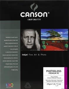 Canson PhotoGloss Premium RC 270gsm A2 x 25 Sheets