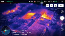 DJI Mavic 2 Enterprise Dual (RGB  plus Thermal Cameras) with enhanced vision to see heat signatures, perfect for volunteer firefighters, border patrol, police, and technical survey.