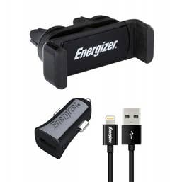 ENERGIZER CAR KIT 2.4A Clipped  plusLightning Cable Black