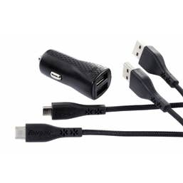 ENERGIZER CAR ADAPTER 2.4A 2USB Black (UNIVERSAL)