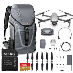 DJI Mavic 2 Pro Adventure Kit with 128GB Micro SD Card and Manfrotto Backpack