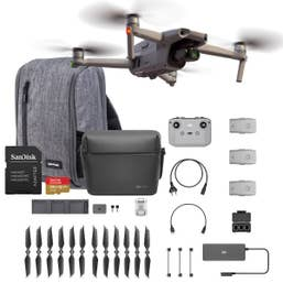 DJI Mavic Air 2 Fly More Combo with Crumpler Drone Bag and 128GB Sandisk Card Bundle