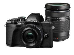 Olympus E-M10 Mark III -Twin Kit w/ 14-42mm EZ  and 40-150mm Lenses - Black