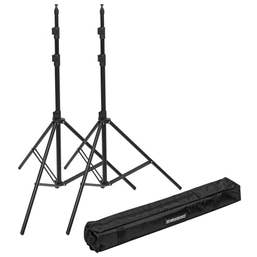 Elinchrom Dual Stand Set Inc Carry Bag - 2x Stands & Case