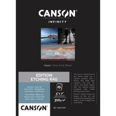 Canson Edition Etching Rag 310gsm 5x7 Inch x 25 Sheets