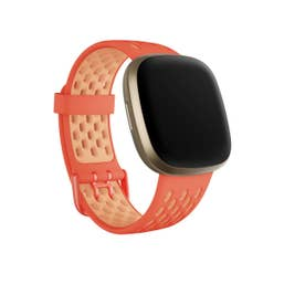 Fitbit Sport Band for Sense & Versa 3 Smartwatches (Small - Melon/Rose)