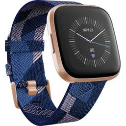 Fitbit Versa 2 Special Edition with Woven Band Navy Pink