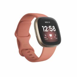 Fitbit Versa 3 - Pink Clay/Soft Gold