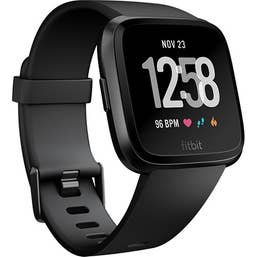 Fitbit Versa Smart Fitness Watch (Black)