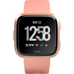 Fitbit Versa Smart Fitness Watch (Peach)