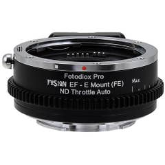 Fotodiox Pro FusionND Throttle Canon EF to Sony E Mount Pro - Auto Iris Control