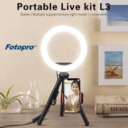 Fotopro Vlogging Ring Light Kit