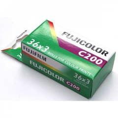 Fujifilm Fujicolor C200 35mm Color Print Film 135-36 Exposure Triple Pack