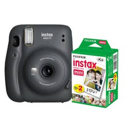 Fuji Instax Mini 11 - Charcoal Grey - 20 Pack Film Bundle