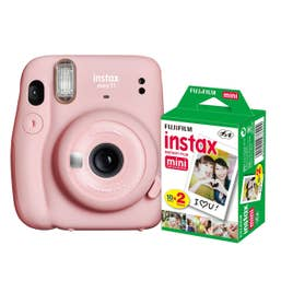 Fuji Instax Mini 11 - Blush Pink - 20 Pack Film Bundle