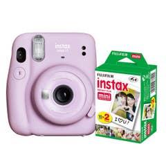 Fuji Instax Mini 11 - Lilac Purple - 20 Pack Film Bundle