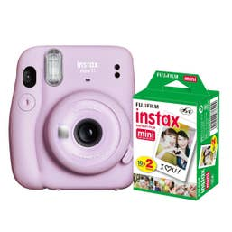 Fuji Instax Mini 11 - Lilac Purple - 20 Pack Film Bundle