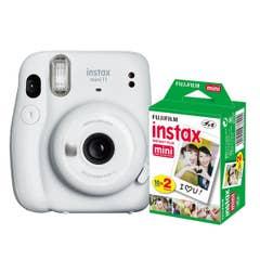 Fuji Instax Mini 11 - Ice White - 20 Pack Film Bundle