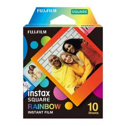 Fujifilm INSTAX SQUARE Rainbow Film 10 Pack