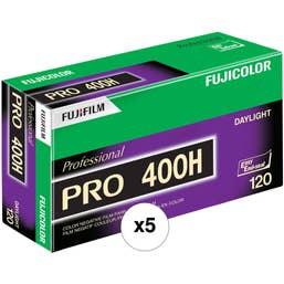 FujiFilm PRO 400 H 120/12 Film - 5 Pack