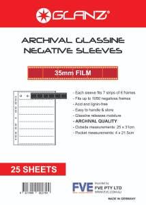 Glanz 35mm Glassine Negative Sheets - 25pk
