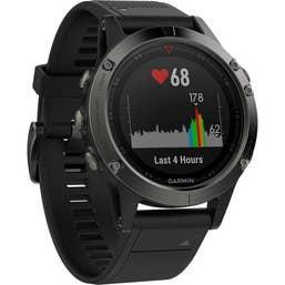 Garmin Fenix 5 Sports Watch with Black Band (Slate Grey)