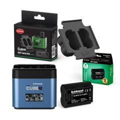 HAHNEL - proCUBE 2 Charger- Panasonic/Fuji Bundle with NP-W235 Plate and Battery
