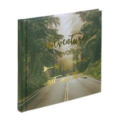 "HAMA ""Highway"" Bookbound Dry Mount 180x180 Black White Page Photo Album - 30 page"