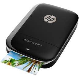 HP Sprocket 2-in-1 Photo Printer and Camera (Black)