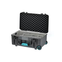 HPRC HPRC2550W Water-Resistant Hard Case with Second Skin and Built-In Wheels (Grey/Turquoise)