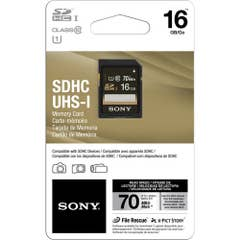 Sony 16GB UHS-I SDHC Memory Card (Class 10)