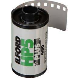 Ilford HP5 Plus Black and White Negative Film (35mm Roll Film, 36 Exposures)