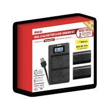 Inca Dual Charger Set with Powerbank for Pentax D-LI90 (CD-SD0212 Charger+ 2x Li- ion Batteries)