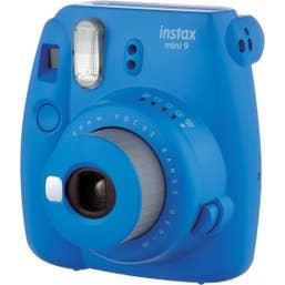 Fuji Instax Mini 9 Cobalt Blue Bundle Kit Film, Pegs, Case, washi tape