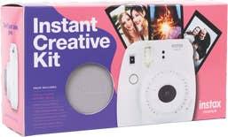 Fujifilm Instax Mini 9 - Smokey White - Creative Bundle Kit.