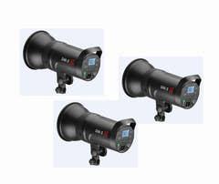 Jinbei 2x DM5 heads 1x TR-V6 trigger 1x Carry bag 2x JB220A LS 1x L80 Stand bag